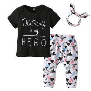 Other - Baby Girls 3pc Pants Set
